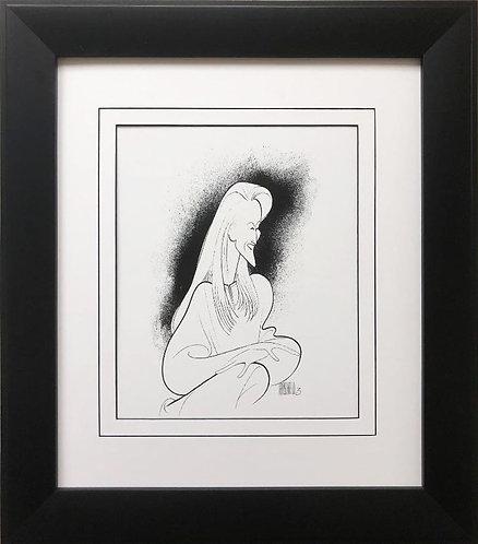 "Al Hirschfeld ""Meryl Streep"" CUSTOM FRAMED Decorative ART Print"