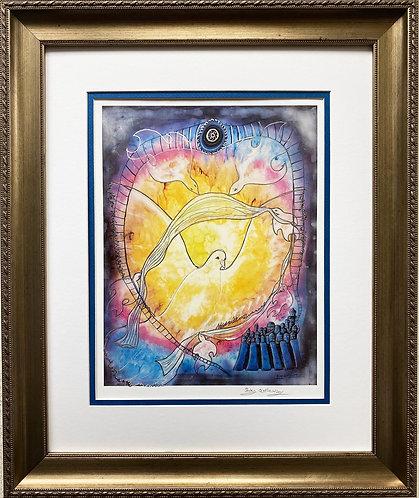 """Rothenberg """"Peace"""" FRAMED Signed Art"""