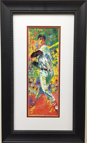 "LeRoy Neiman ""Ted Williams (Mr. 400)"" New CUSTOM FRAMED ART PRINT Boston Red Sox"