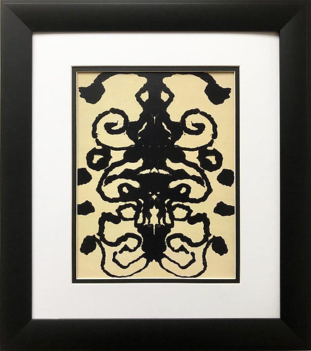 "Andy Warhol ""Rorschach 2"" 1984 CUSTOM FRAMED Pop Art"