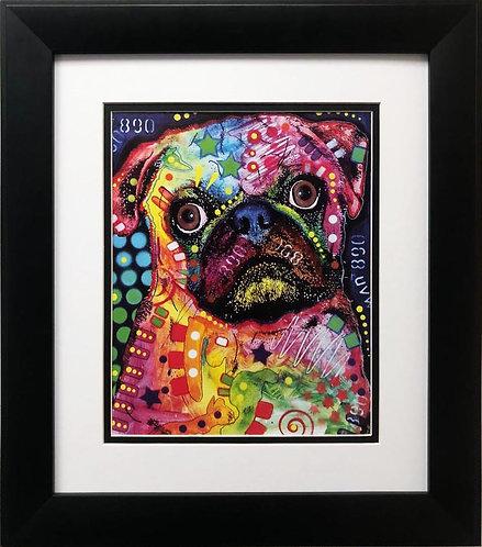 """Dean Russo """"Pug"""" FRAMED Pop Art"""