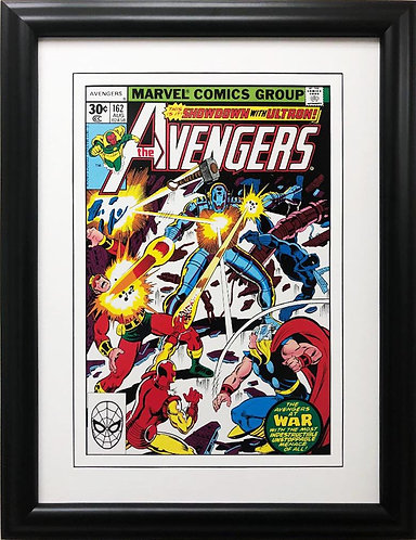 """Marvel """"The Avengers Showdown with Ultron"""" #162 Framed Comic Book Poster"""
