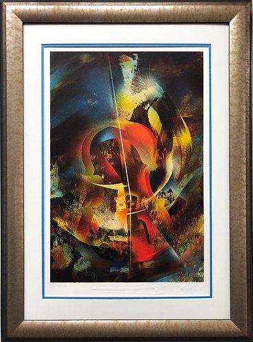 "Leonardo Nierman ""Sound of Color- DeBussy"" Framed Art"