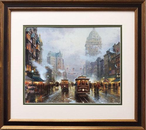 """Thomas Kinkade """"San Francisco, Market Bridge"""""""