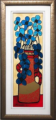 """Avi Ben Simhon """"With Love"""" Framed Hand Signed Israeli Art"""