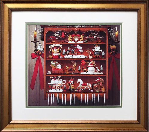 "Charles Wysocki ""Christmas Heirlooms"" New CUSTOM FRAMED  Art"