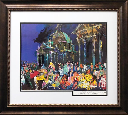 """LeRoy Neiman """"Piazza del Popolo- Rome"""" Hand Signed & Framed Art"""
