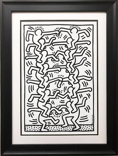 "Keith Haring ""KH17-POD"" CUSTOM FRAMED Print"