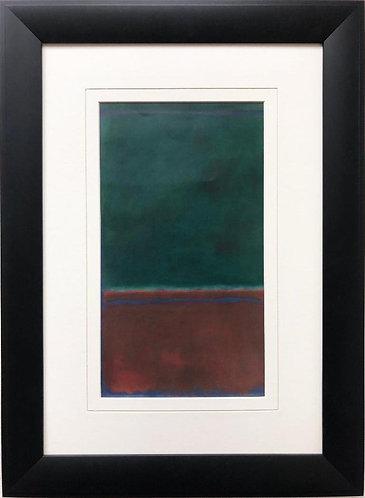 """Mark Rothko """"Green and Maroon"""" FRAMED Art"""