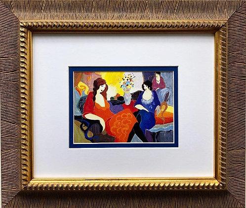 """Itzchak Tarkay """"The Secret"""" (Aristocrats) Framed Art Print"""