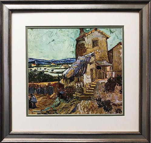 """Vincent Van Gogh """"The Old Mill"""" CUSTOM FRAMED ART Scene"""