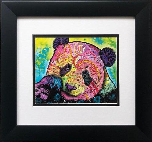 """Dean Russo """"Psychedelic Panda"""" FRAMED Street Pop Art"""
