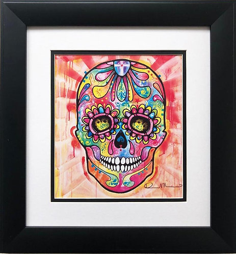 "Dean Russo ""Sugar Skull"" CUSTOM FRAMED Street Pop Art"