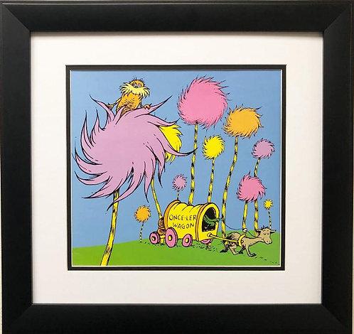 """Dr. Seuss """"The Lorax"""" NEW FRAMED ART"""
