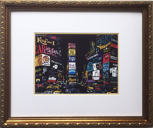 "LeRoy Neiman ""Times Square 2001"" FRAMED Art print NYC New York City BROADWAY"