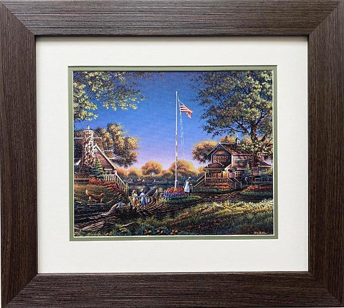 "Terry Redlin ""Good Morning, America"" CUSTOM FRAMED Art Print"