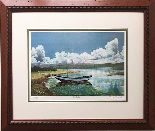 """Terry Mihlrad """"Low Tide"""" Framed Art Hand Signed Limited Edition"""