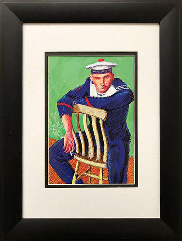 "David Hockney ""A Bigger Matelot Kevin Druez 2"" Pop NEWLY CUSTOM FRAMED ART"