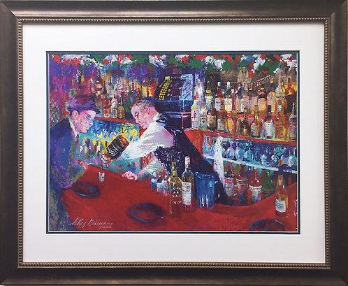 "LeRoy Neiman ""Frank at Rao's"" NEW CUSTOM FRAMED Art Lithograph Sinatra Rat Pack"