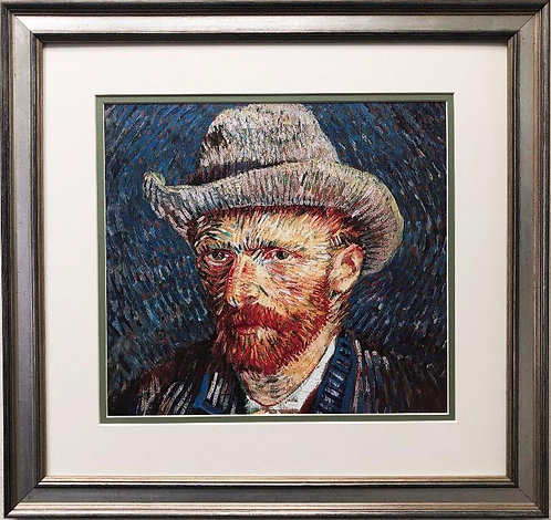 "Vincent Van Gogh ""Self Portrait with Grey Felt Hat"" CUSTOM FRAMED ART"