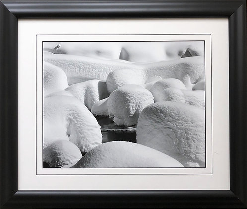 "Ansel Adams ""Snow Hummocks at Valley View"" Custom Framed NEW ART Photography"