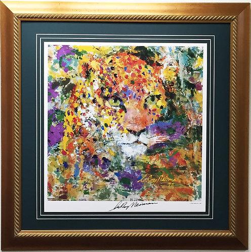 "LeRoy Neiman ""Portrait Of A Leopard"""