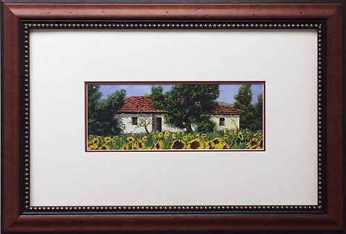 GUIDO BORELLI Tuscan Summer I CUSTOM FRAMED Italy SIGNED