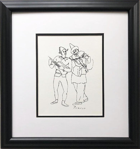 "Pablo Picasso ""Two Musicians"" CUSTOM FRAMED Lithograph"