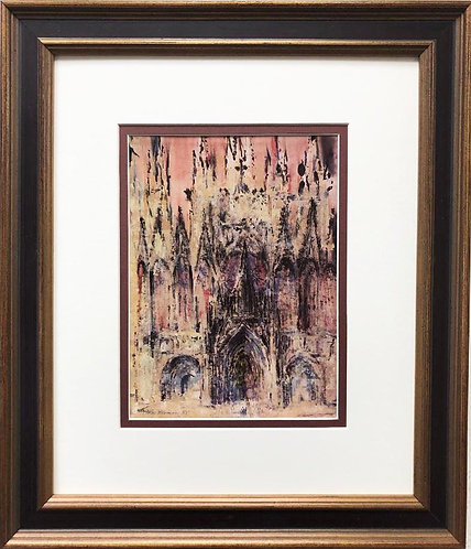 """LeRoy Neiman """"Notre Dame Cathedral"""" FRAMED New Art Print"""
