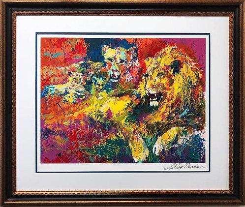 """LeRoy Neiman """"Royal Family"""" Hand Signed Custom Framed Art Serigraph"""