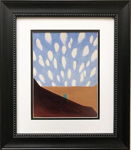 """Georgia O'Keeffe """"In the Patio VIII"""" New Custom Framed Art Print"""