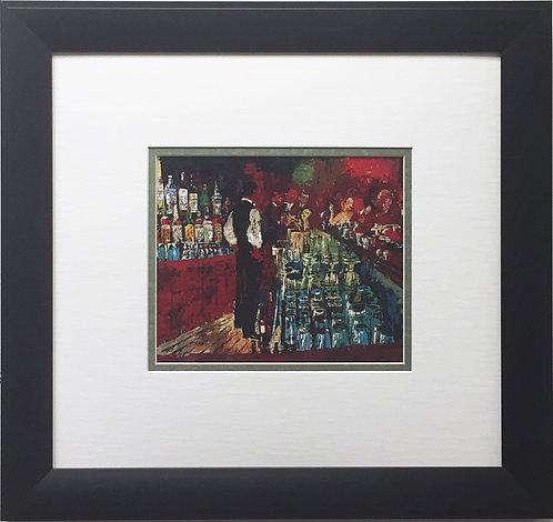 "LeRoy Neiman ""Key Club Bar, Rush Street"" Newly CUSTOM FRAMED Art Print - Chicago"