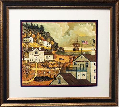 "Charles Wysocki ""The Wharfs Rat Club"" New Custom FRAMED Art"