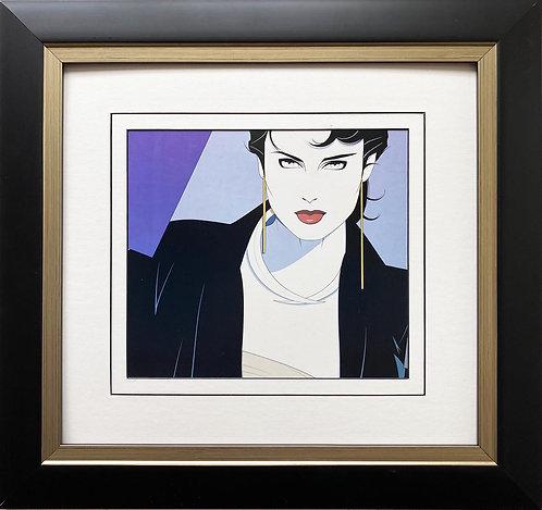 """Patrick Nagel """"Michelle"""" NEW CUSTOM FRAMED Art Deco Print"""