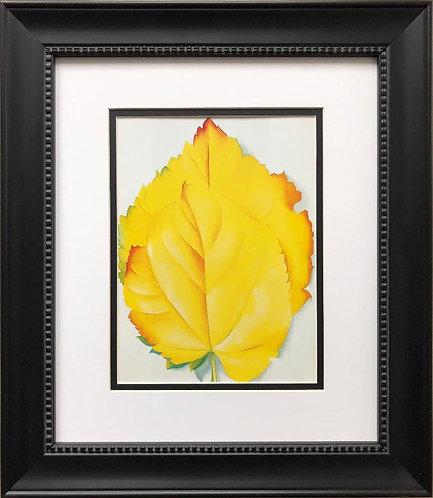 """Georgia O'Keeffe """"Yellow Leaves"""" Art Print Custom Framed"""