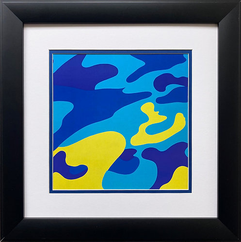 "Andy Warhol ""Camouflage"" 1987 *CUSTOM FRAMED Pop Art Litho"