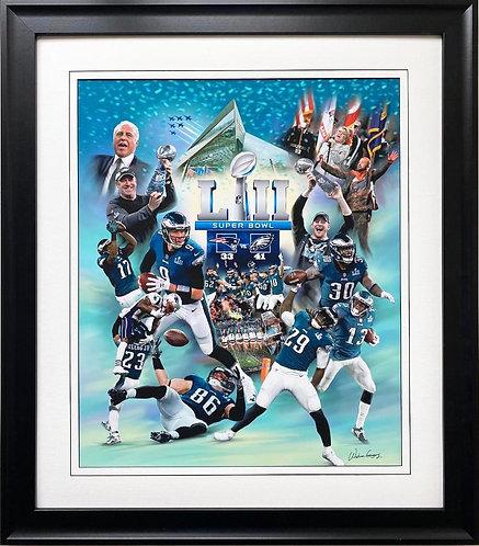 """Wishum Gregory """" Philadelphia Eagles"""" Superbowl 2018 Framed Art"""