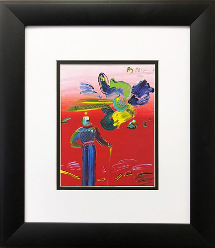 """Peter Max """"Sage with Cane & Abstract Cloud"""""""