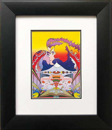 "Peter Max ""National Library Week"" Newly CUSTOM FRAMED Print"