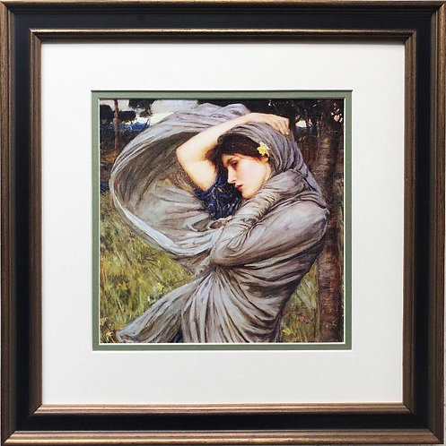 "J.W. Waterhouse ""Boreas"" 1903 Framed Art Print"