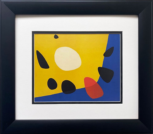 "Alexander Calder ""Untitled"" 1963 CUSTOM FRAMED Abstract Art"
