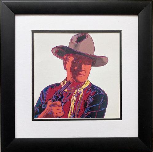 "Andy Warhol ""John Wayne: Cowboys"" 1958 CUSTOM FRAMED Pop Art Lithograph"