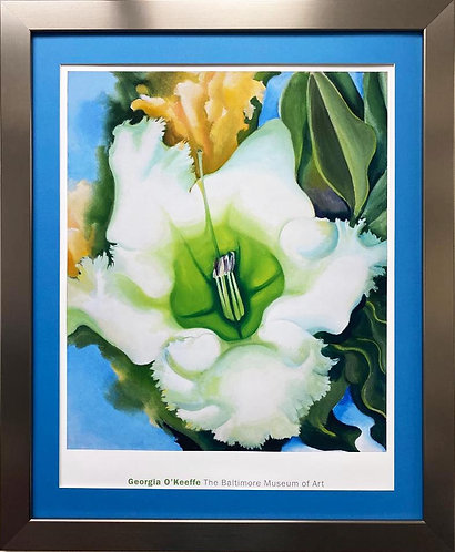 """Georgia O'Keeffe """"Cup of Silver Ginger"""" Framed Art"""