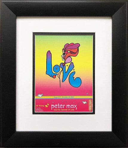 """Peter Max """"De Young Museum: Summer of Love"""" New FRAMED Art"""
