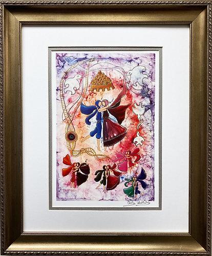 """Rothenberg """"Love Festival in Jerusalem"""" FRAMED Signed Art"""