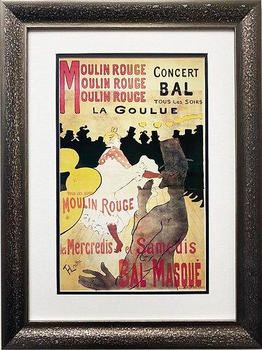 """Toulouse-Lautrec """"Moulin Rouge / La Goulue"""" Custom Framed Art"""