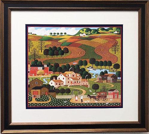 "Charles Wysocki ""Old Homestead"" New Custom FRAMED Art"
