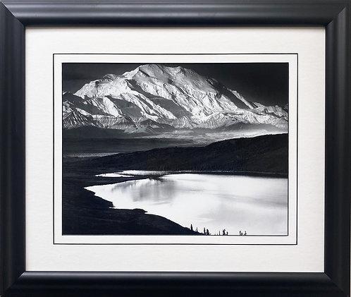 "Ansel Adams ""Denali and Wonder Lake, Alaska"" NEWLY Custom Framed NEW ART Print"