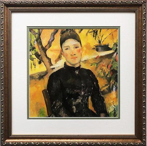 """Paul Cezanne """"Madame Cezanne in the Green House"""" Custom Framed Art Print"""