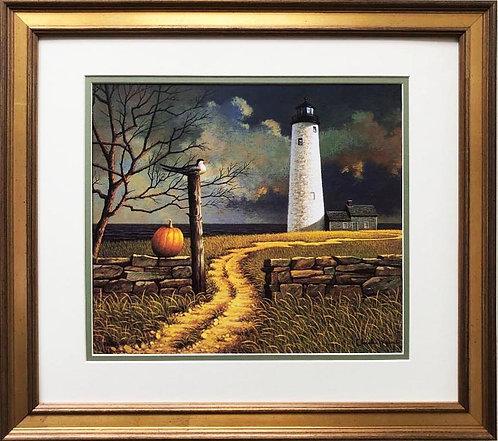 "Charles Wysocki ""Nantucket Pole Sitter"" New CUSTOM FRAMED Art"